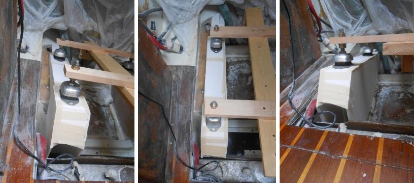 Starboard side engine bed mock up.