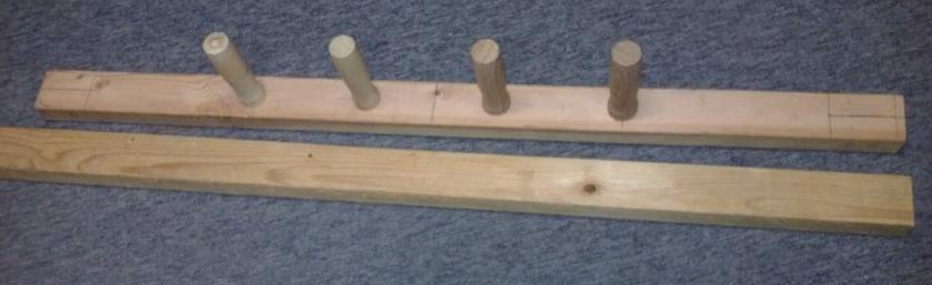 "Scrap 2"" x 3"" Pinrail layout."